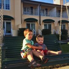 Dudes on Swing watching Beach at King and Prince Resort St Simons GA 1