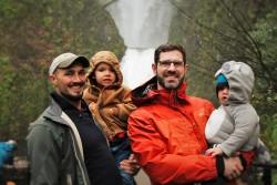 Chris and Rob Taylor at Horsetail Falls Oregon