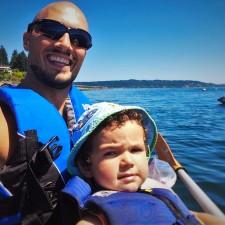 Rob Taylor and LittleMan Kayaking Agate Pass