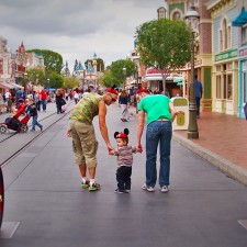 Taylor Family Mainstreet USA Disneyland 1