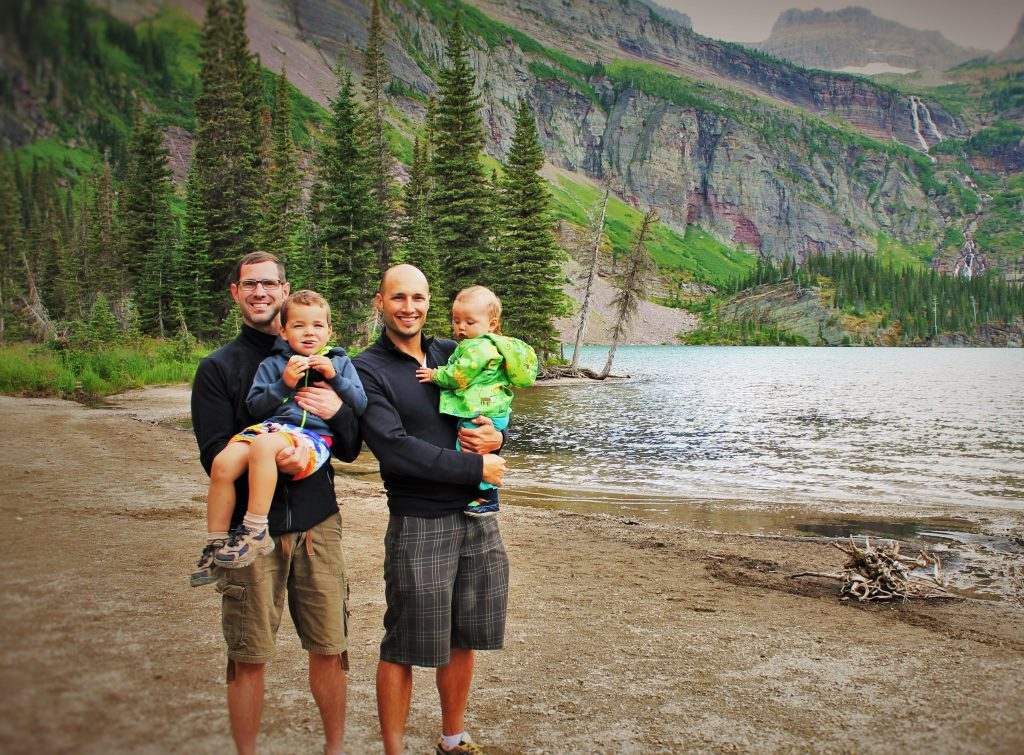 The Taylors after a rather silly hike they found in Montana that was stroller accessible. Is that still hiking?