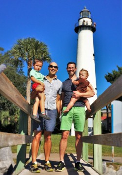 Taylor Family at St Simons Island Lighthouse Georgia 1