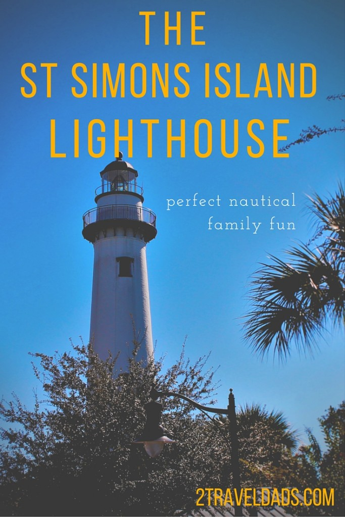 The St Simons Island Lighthouse is a perfect nautical outing in the Golden Isles of Georgia. Any age or size visitor can climb it for a breathtaking view. 2traveldads.com