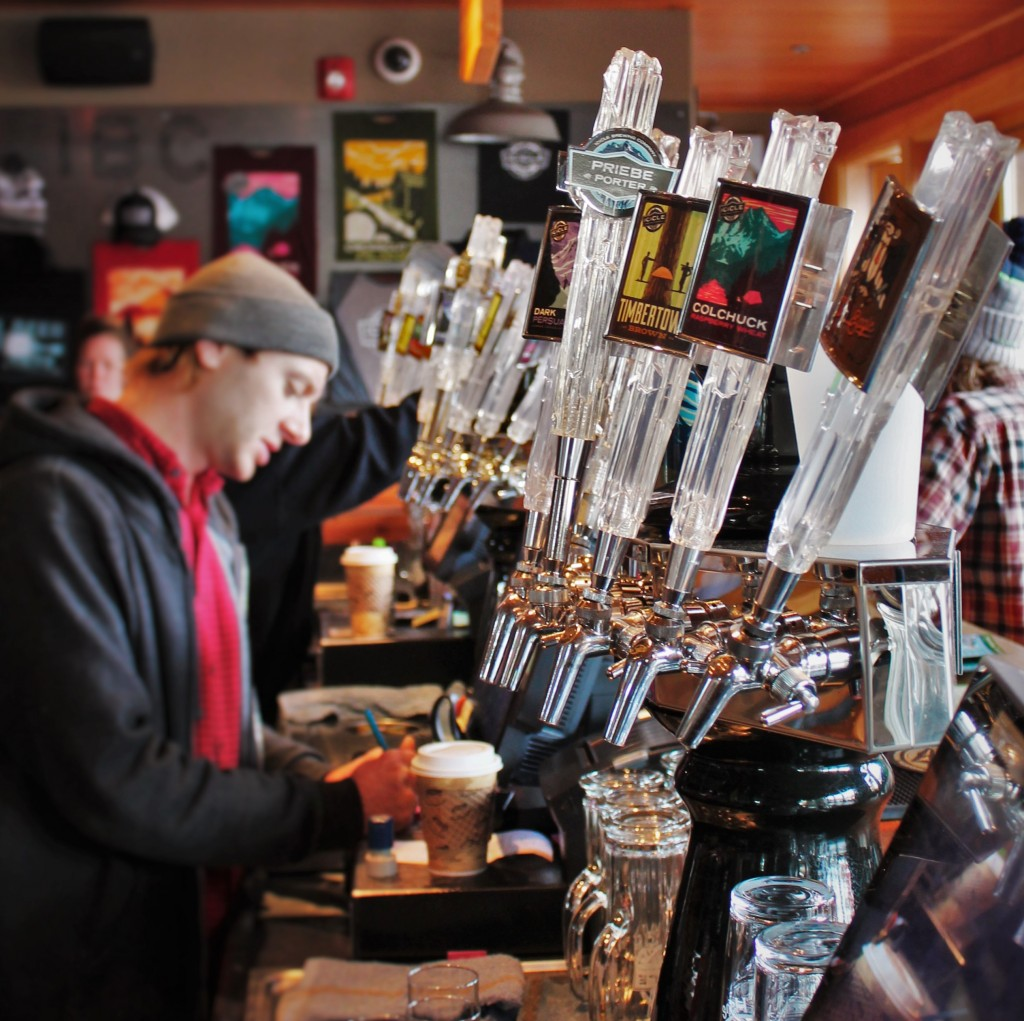 Beer Pull Handles at Icicle Brewing Company in Leavenworth WA 2traveldads.com