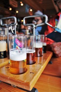 Beer Tasting Samples at Icicle Brewing Company Leavenworth WA 2traveldads.com