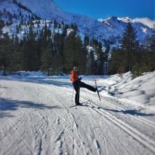 Chris Taylor Cross Country Skiing at Sleeping Lady Resort Leavenworth WA 3