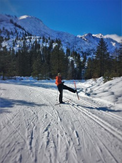 Chris Taylor Cross Country Skiing at Sleeping Lady Resort Leavenworth WA 3