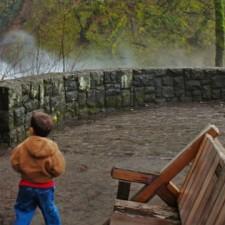 Chris Taylor and Dudes at Horsetail Falls Columbia Gorge Oregon