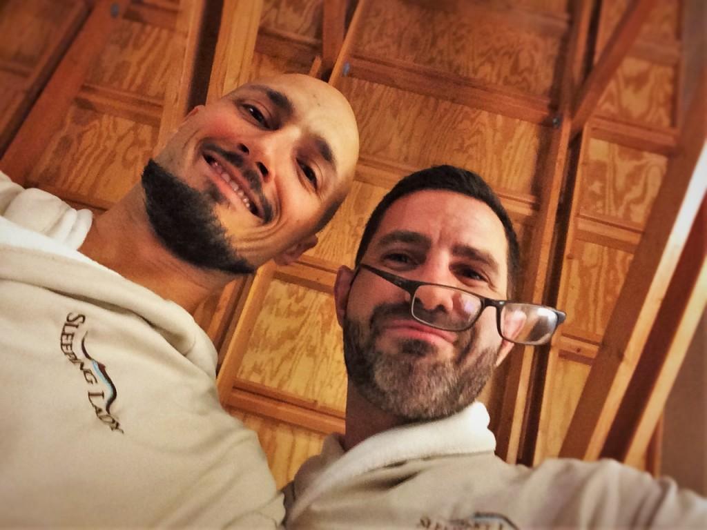 Chris and Rob Taylor Bathrobes at Sleeping Lady Resort Leavenworth WA 1
