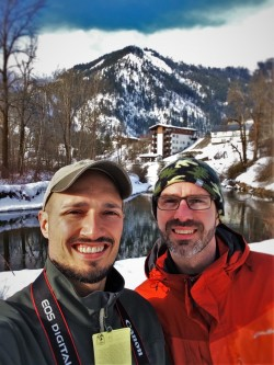 Chris and Rob Taylor in Leavenworth WA in the Snow 1
