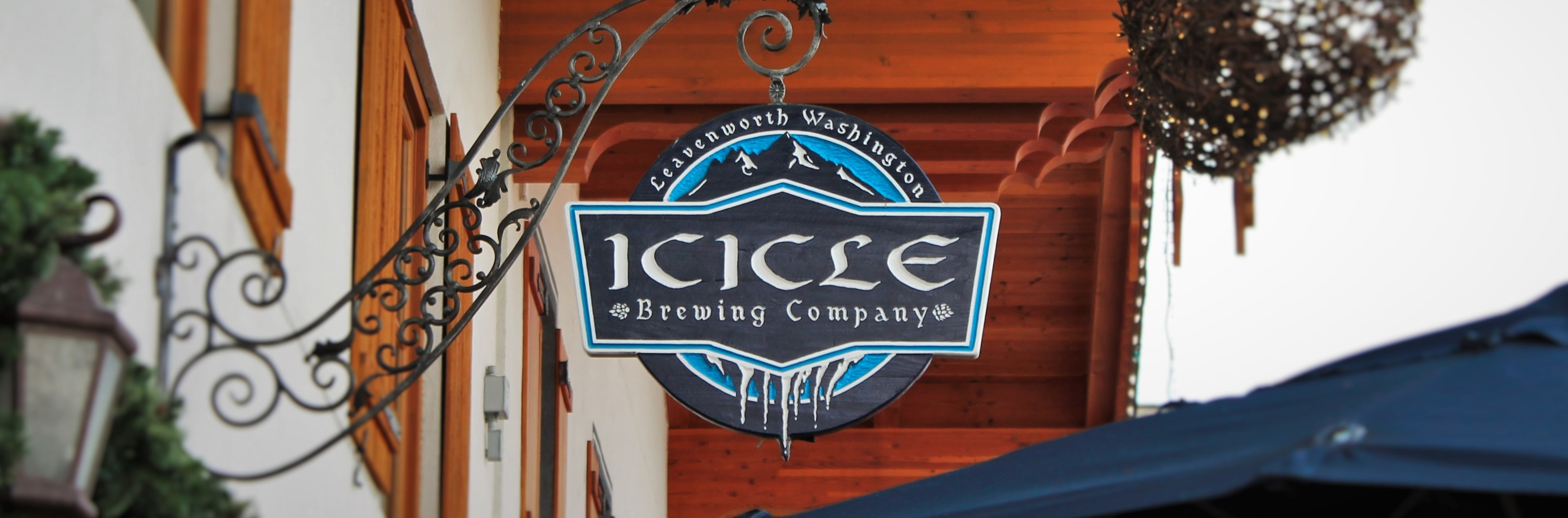Icicle Brewing Company sign Leavenworth WA 2