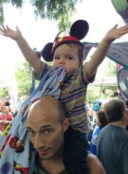 Rob Taylor and LittleMan Alice in Wonderland Disneyland