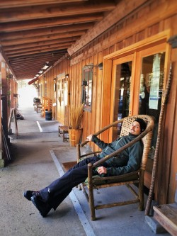 Rob Taylor at O'Grady's Mercantile at Sleeping Lady Resort Leavenworth WA 2traveldads.com