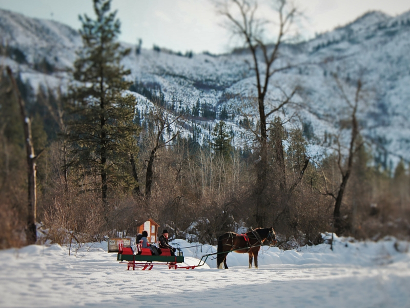 Sleigh Ride at Sleeping Lady Resort Leavenworth 2traveldads.com
