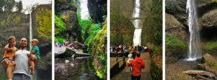 The waterfalls of the Columbia Gorge are one of the seven wonders of Oregon. From Multnomah Falls to the Oneonta Gorge, there are sights and hikes for everyone. An easy day trip from Portland. 2traveldads.com