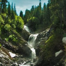 Bloucher Falls Van Trump Creek in Mt Rainier National Park 2traveldads.com