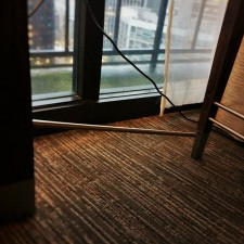 Broken desk at Westin Seattle