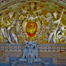 Golden Relief in Vatican Museum from Traci Richards Photography 2traveldads.com