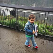 LittleMan and Snoqualmie Falls Washington in Winter 3