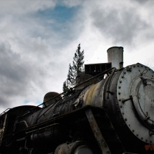 Old Steam Engine at Railroad Graveyard in Snoqualmie Washington 4