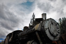 Old Steam Engine at Railroad Graveyard in Snoqualmie Washington 4