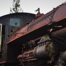 Old Steam Engine at Railroad Graveyard in Snoqualmie Washington 5