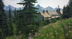 Paradise Inn and Tatoosh Range in Mount Rainier National Park 2traveldads.com
