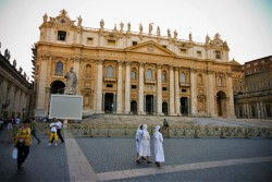 St Peters Basillica with Nuns from Wandering Wagars 1