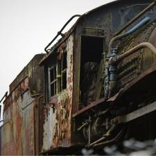 Steam Engine in Railroad Graveyard Snoqualmie Washington 1
