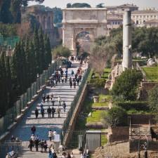 Steps of the Roman Forum from Lisa Truemper Scott 2