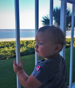 TinyMan on Balcony at King and Prince Resort St Simons GA 2
