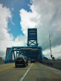 Bridge crossing St Johns River Jacksonville Florida 1