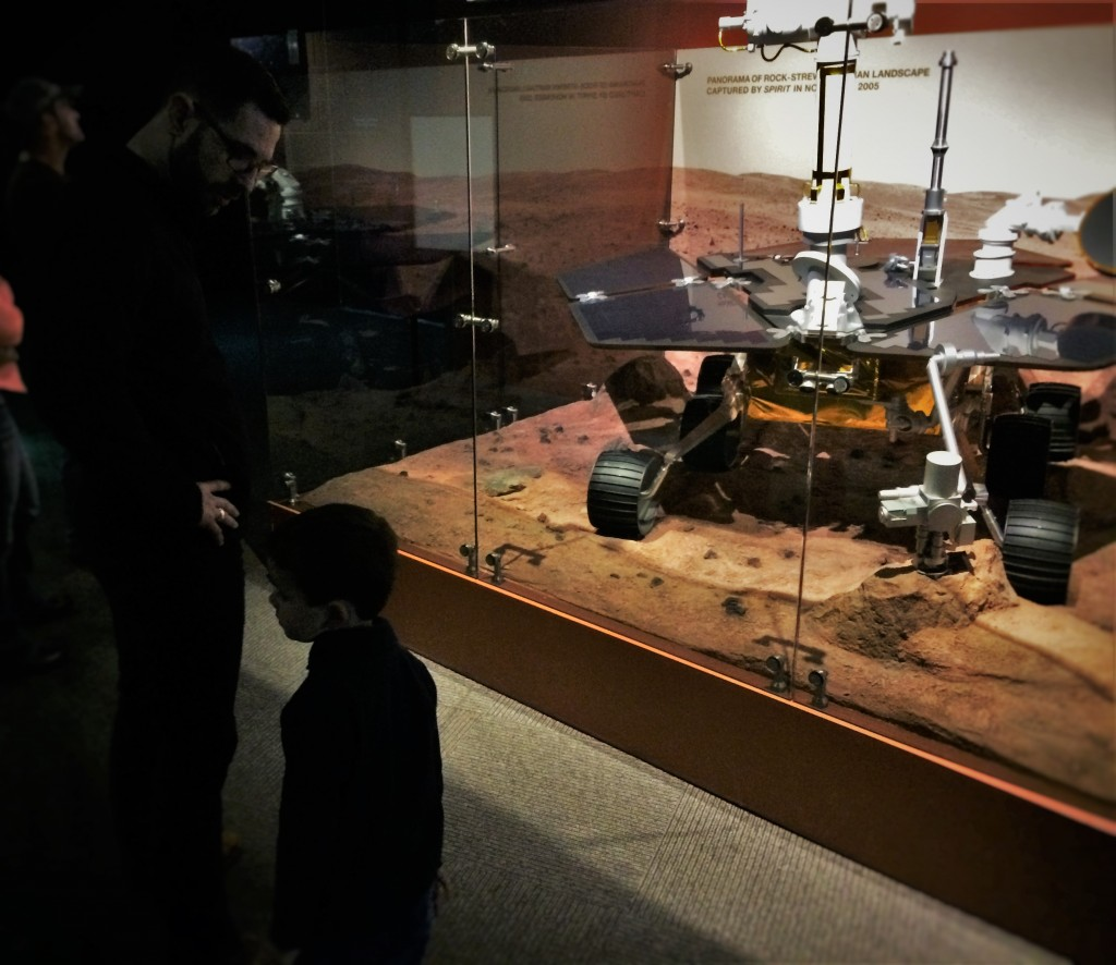 Chris Taylor And Moon Rover In Denver Museum Of Science
