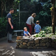 Chris Taylor and TinyMan looking at Butterflies at the Butterfly Pavilion Denver Colorado 1