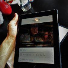 Digital Menu at Fireside Lounge at Inverness Hotel Denver Colorado 1