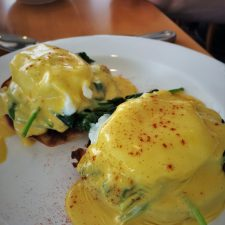Eggs Florentine at Restaurant 301 at Carter House Inn Eureka 1