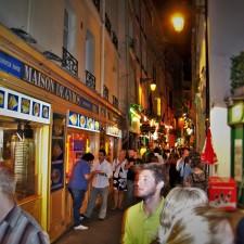 Latin Quarter Paris at Night 1