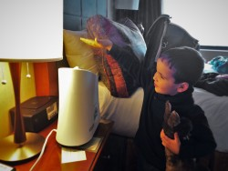 LittleMan and Cold Humidifier at Inverness Hotel Denver Colorado 1