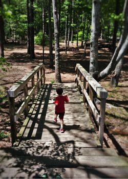 LittleMan at Kennesaw Mountain National Battlefield with footbridge 2traveldads.com