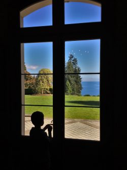 LittleMan inside Mansion at Bloedel Reserve Bainbridge Island 1