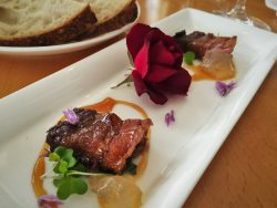 Maple Pork Belly at Restaurant 301 at Carter House Inn Eureka 1