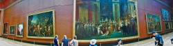 Panoramic in the Louvre Paris 2traveldads.com