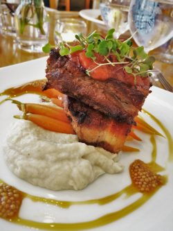 Pork Belly at Restaurant 301 at Carter House Inn Eureka 2