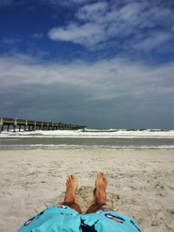 Rob Taylor feet at Jacksonville Beach Florida 2