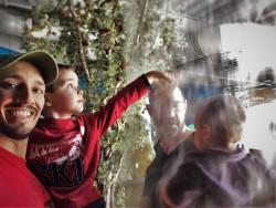Taylor Family going through vapor falls at Childrens Museum of Denver 1