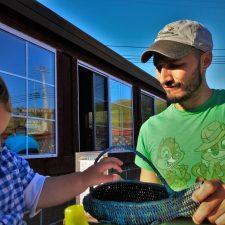 Rob Taylor and Tiny Man at Fishertarian Bodega Bay 1