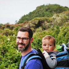 Chris Taylor and TinyMan at Trinidad Head California 2traveldads.com