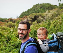 Chris Taylor and TinyMan at Trinidad Head California 2traveldads.com