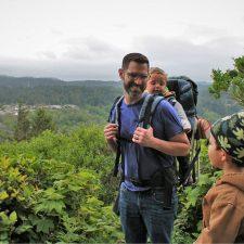 Chris Taylor and kids hiking at Trinidad Head 2