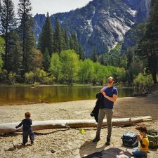 Taylor Family having a picnic at Cathedral Picnic Area in Yosemite National Park 2